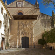 Foto Stock: Front of monastery at segovia
