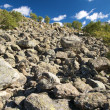 Stock Photo: Mountain of rocks