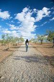 Walking on pebble path — Stock Photo