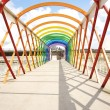 Colorful footbridge — Foto Stock
