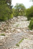 River full of stones — Stock Photo
