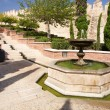 Almeria castle fountain — Stock Photo