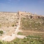 Great wall at Almeria castle — Stock Photo