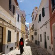 Walking at Ciutadella street — Stockfoto