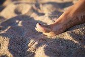 Varnish woman nail — Stock Photo