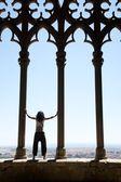 Titta på staden från lleida-domkyrka — Stockfoto