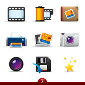 Photography icons..series no.7 — Stock Vector