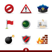 Safety icons..series no.8 — Stock Vector