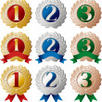 Ranking medal set — Stock Vector