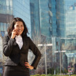 Stock Photo: Portrait of cute asibusiness woman