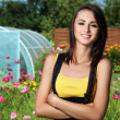 Beautiful woman gardener — Stock Photo