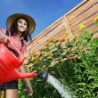 Beautiful woman gardener — 图库照片