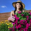 Beautiful woman gardener — Stock Photo #5821323