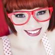 röda haired skönhet — Stockfoto