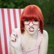 Stock Photo: Red haired beauty