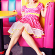 Stock Photo: Retro pin up