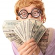 Funny businessman with money — Stock Photo #5821513