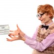 Funny businessman with money — Stock Photo #5821514