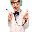 Crazy doctor Nerd — Stock Photo