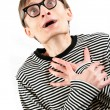 Stock Photo: Shocked nerd