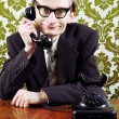 Retro customer service — Stockfoto