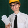 Nerdy engineer — Stock Photo