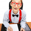 Funny nerd - Stock Photo