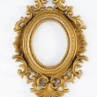 Oval vintage gold ornate frame — Stock Photo