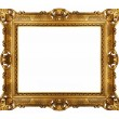 Golden vintage picture frame — Stock Photo #5821721