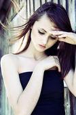 Beautiful pensive girl — Stock Photo
