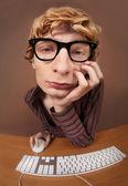 On-line chatting — Zdjęcie stockowe