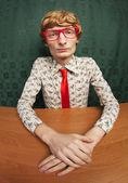 Trabalhador de escritório engraçado — Foto Stock
