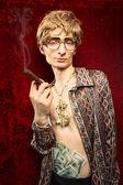 Komik zengin adam — Stok fotoğraf