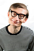 Cute smiling nerd — Stock Photo
