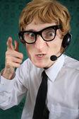 陽気な顧客サービス — ストック写真