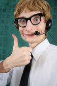 обслуживание веселый клиентов — Стоковое фото