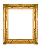 Golden vintage picture frame — Stock Photo
