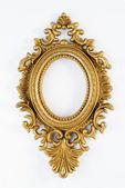 Oval vintage gold ornate frame — Stock Photo