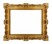 Golden vintage picture frame — Stockfoto