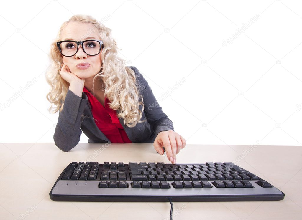 Pretty office worker — Stock Photo #5821464