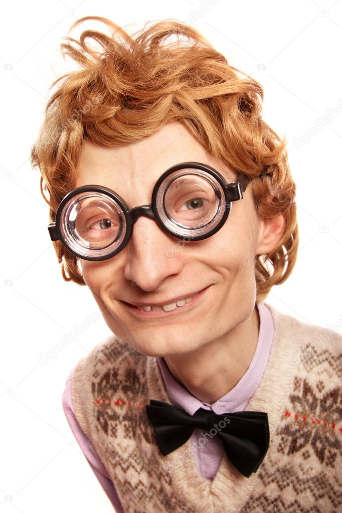 Funny nerd — Stock Photo © NinaMalyna #5821504