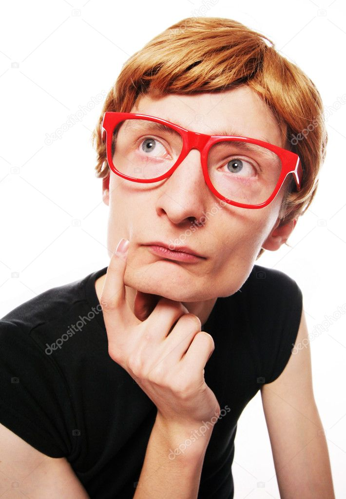 Funny nerd — Stock Photo #5821624