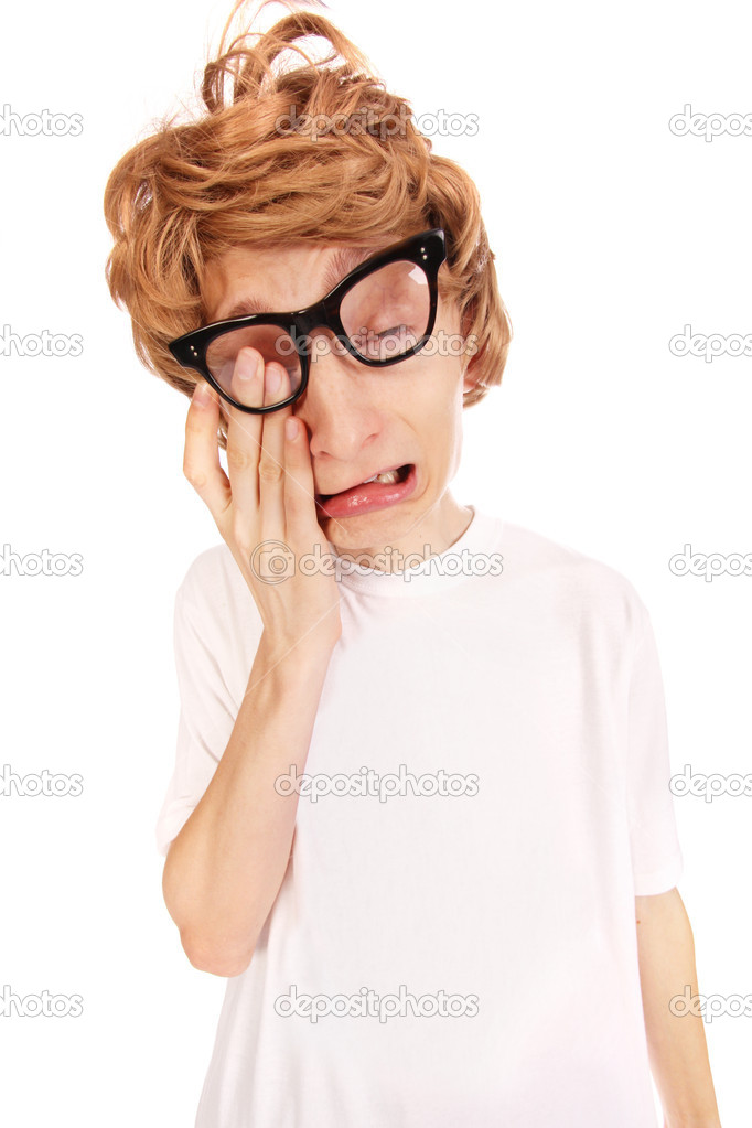 Crying nerd — Stock Photo #5821655