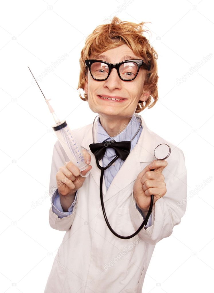 Crazy doctor Nerd — Stockfoto #5821681