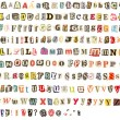 Colorful alphabet — Stockfoto