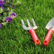 园林工具 — 图库照片