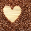 Stock Photo: Coffee beans heart