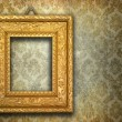 Antique gold frame — Stock Photo #5854260