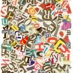 Красочный фон с буквами — Стоковое фото