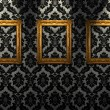 Stock Photo: Gold ornate frames